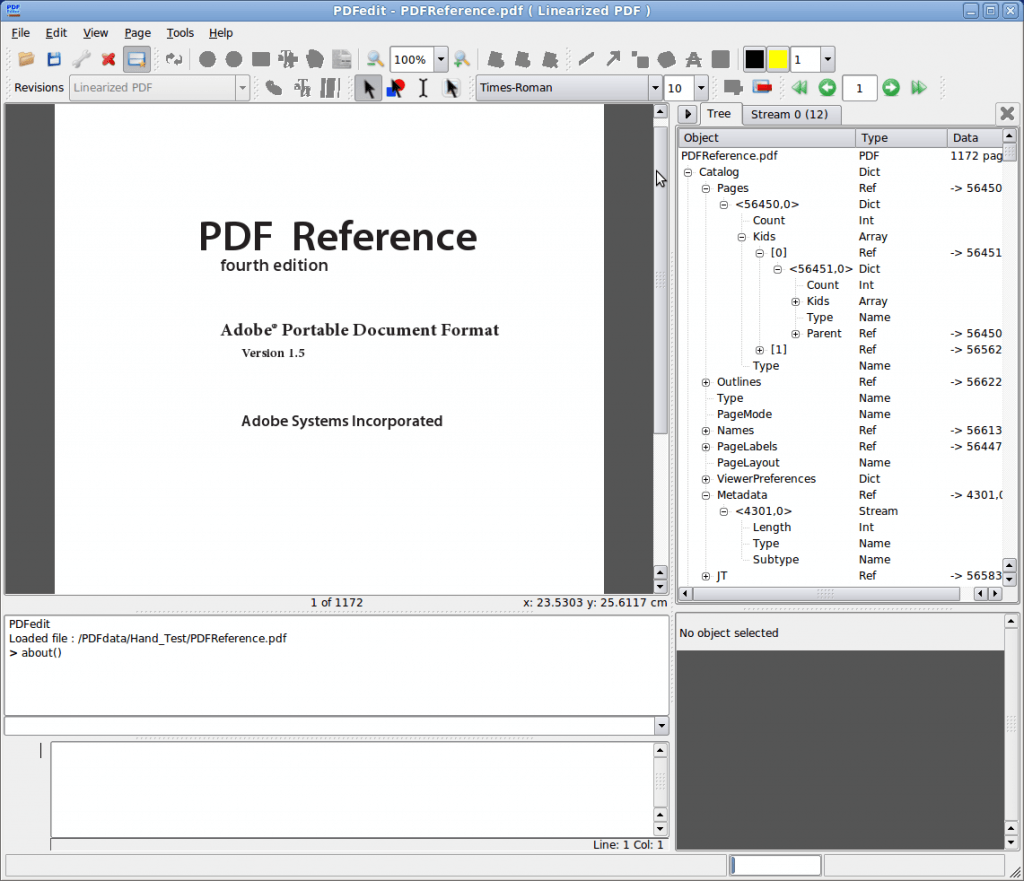 pdfedit screenshot