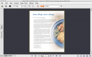 PDF file single page view
