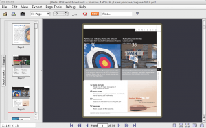thumbnail view of PDF file