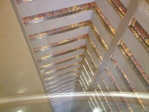 View inside from the lift on the 37th floor