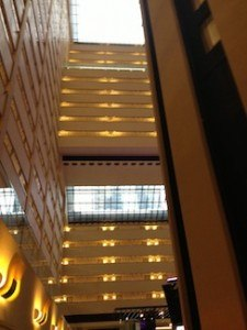 Atrium inside the Hotel