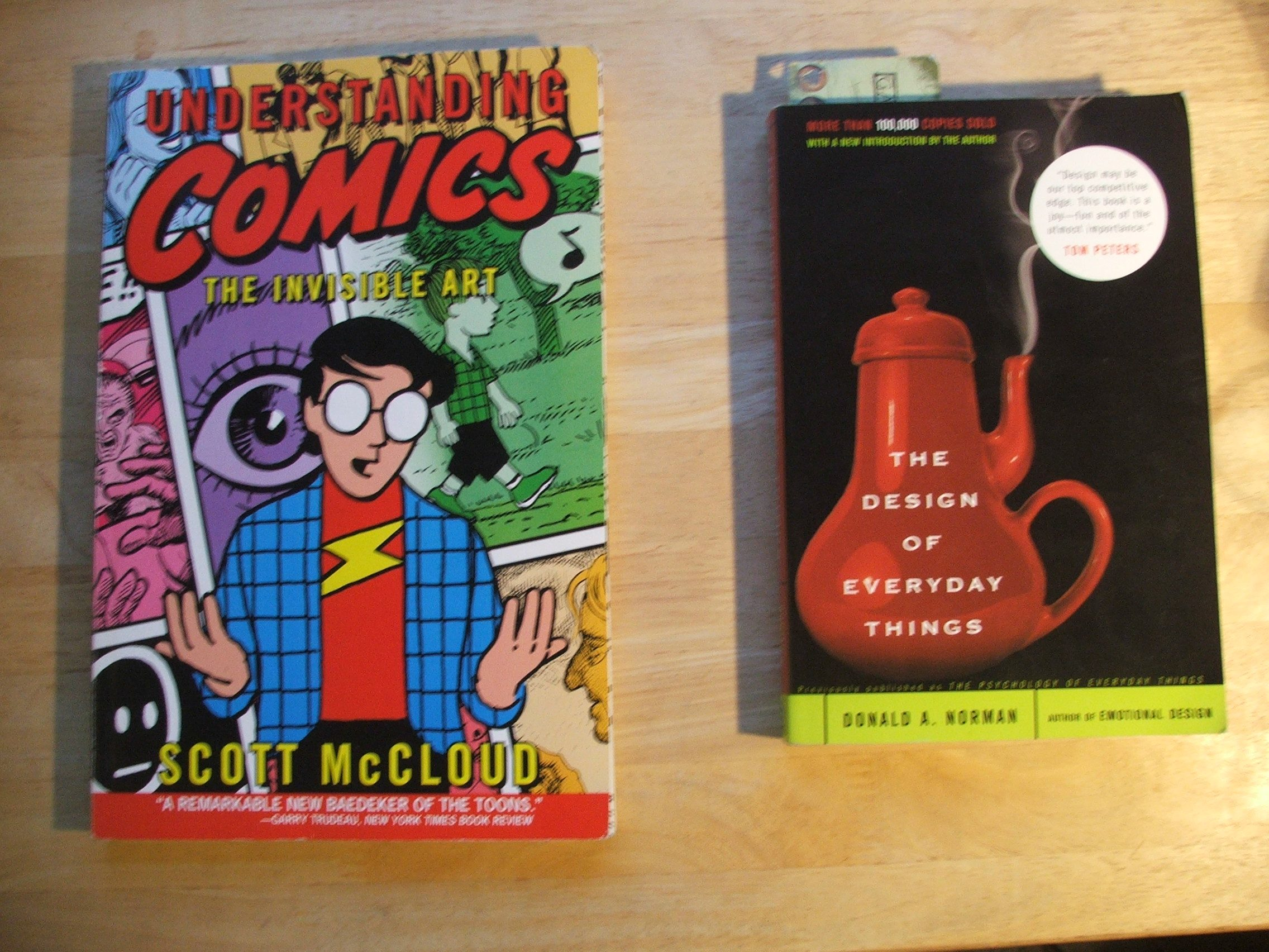 "Image of ""Understanding Comics"" and ""The Design of Everyday Things"""