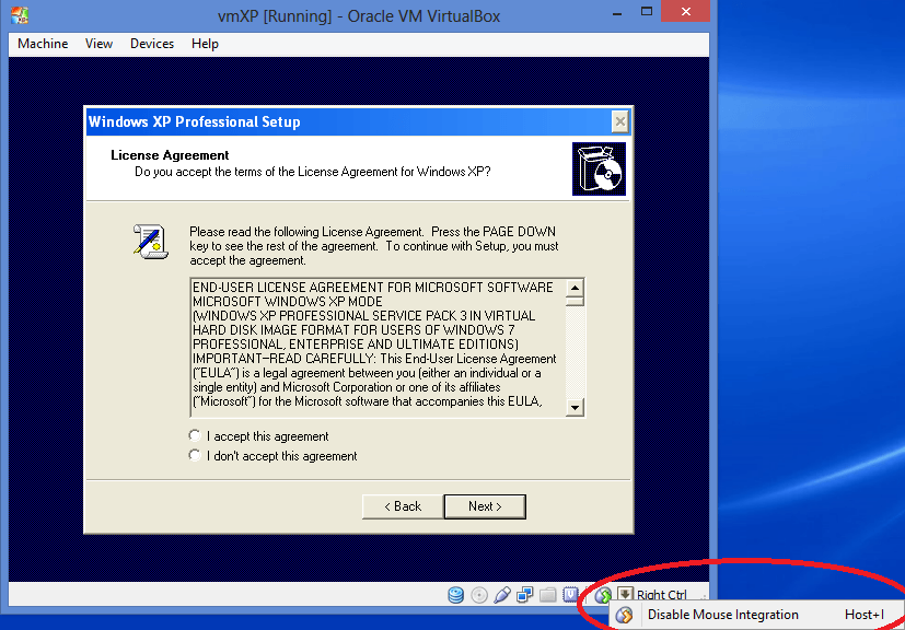 Setting Up an XP Virtual Machine to run Internet Explorer 8