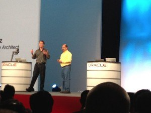 2 speakers and 4 Macs at the JavaOne keynote