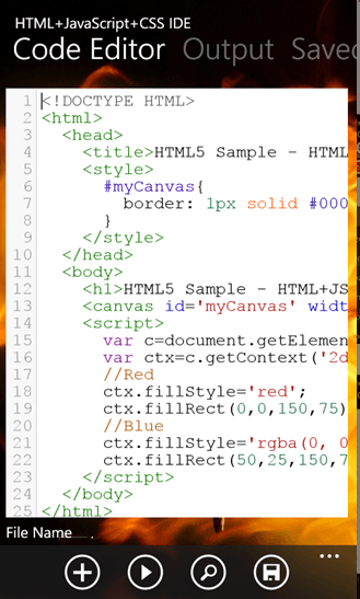 ... Development Environment for writing and debugging HTML ,JavaScript ,CSS  codes for Windows Phone and is a paid application. It is a Code Editor with  ...