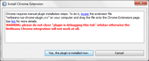 NetBeans needs this extension installed