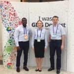 Ernest, Sylwia and Mark at DevFest 2014