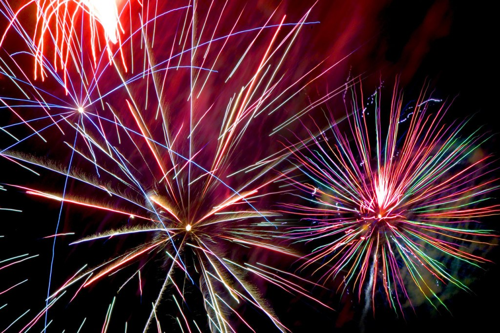 Colorful Fireworks for a New Year