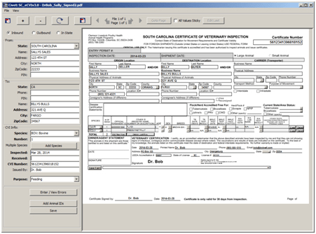 Civet uses JPedalXFA to display PDF files, including complicated XFA forms, for easy transcription of key indexing fields