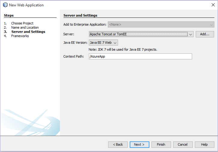 How to use the Microsoft Azure cloud on the NetBeans IDE