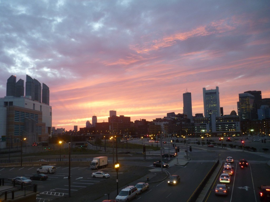 Sunset Over Boston at last Business of Software Conference