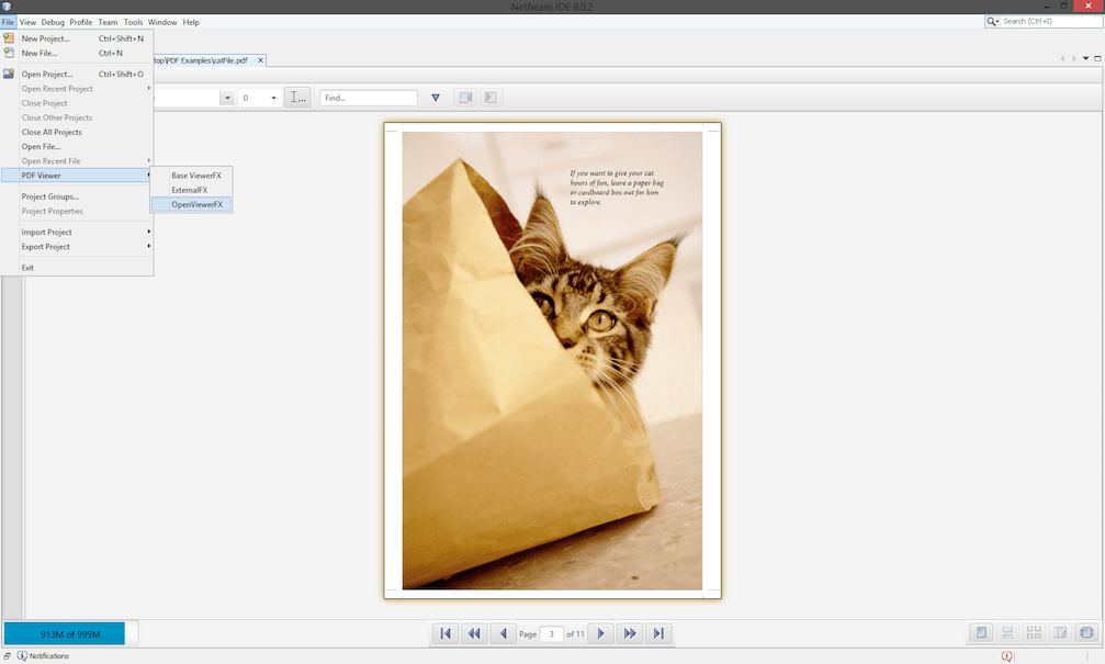 NetBeans PDF Viewer plugin