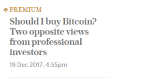 Bitcoin in the news