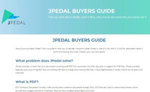 JPedal Buyers Guide